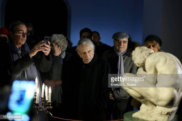 Roberto Herlitzka attends Fondazione Alda Fendi Esperimenti L'Adolescente by Michelangelo from The State Hermitage Museum on December 14 2018 in Rome...