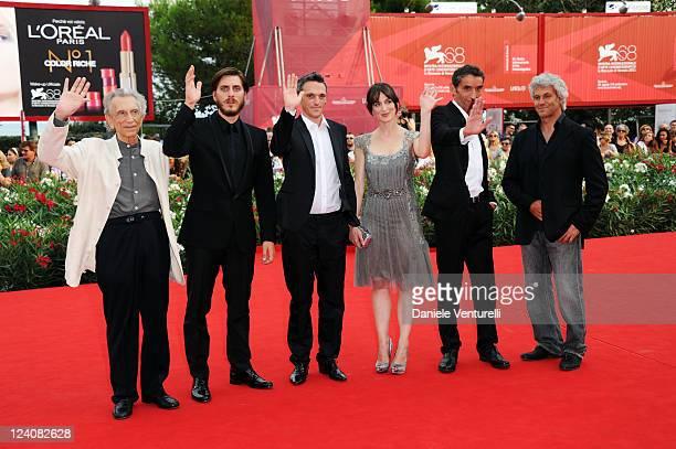 Roberto Herlitzka, Luca Marinelli, Gabriele Spinelli, Anna Bellato, director Gian AlfonsoPacinotti and producer Domenico Procacci attend the...