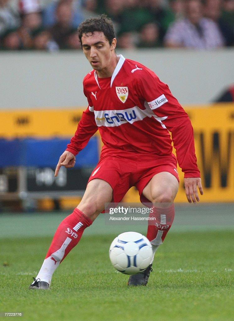 Roberto Hilbert of Stuttgart runs with the ball during the Bundesliga match between VfB Stuttgart and Hannover 96 at the Gottlieb-Daimler-Stadium on October 06, 2007 in Stuttgart, Germany.