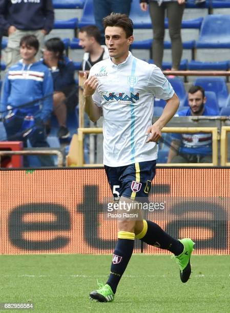 Roberto Inglese celebrates after scoring a goal 11 during the Serie A match between UC Sampdoria and AC ChievoVerona at Stadio Luigi Ferraris on May...