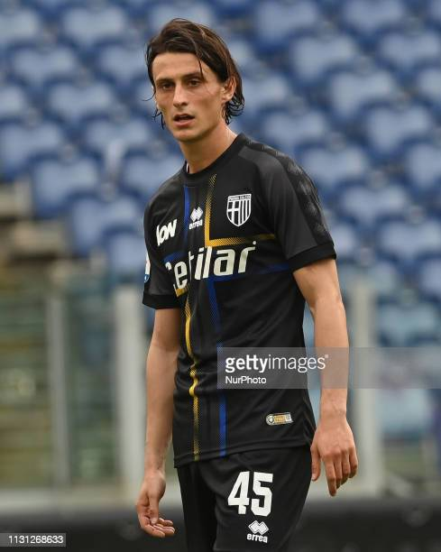 Roberto Inglese during the Italian Serie A football match between SS Lazio and Parma at the Olympic Stadium in Rome on march 17 2019