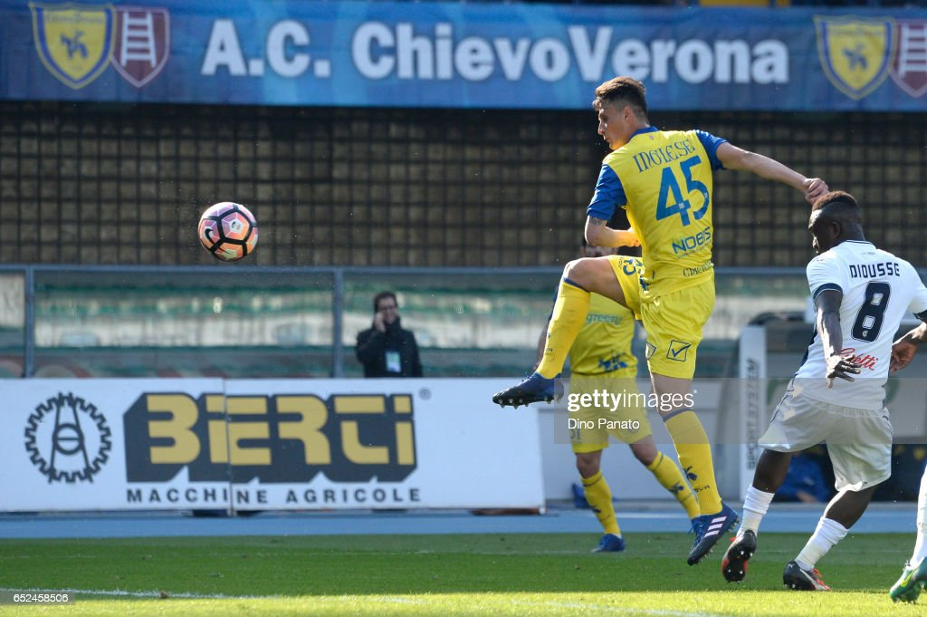Roberto Inglese Of Chievoverona Scores His Opening Goal During The