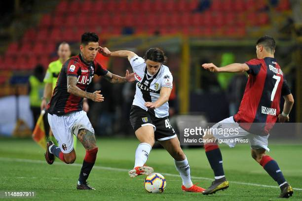 Roberto Inglese of Parma Calcio in action during the Serie A match between Bologna FC and Parma Calcio at Stadio Renato Dall'Ara on May 13 2019 in...