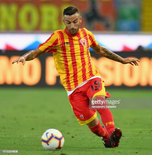 Roberto Insigne of Benevento Calcio in action during the Coppa Italia match between Udinese Calcio and Benevento Calcio at Stadio Friuli on August 11...