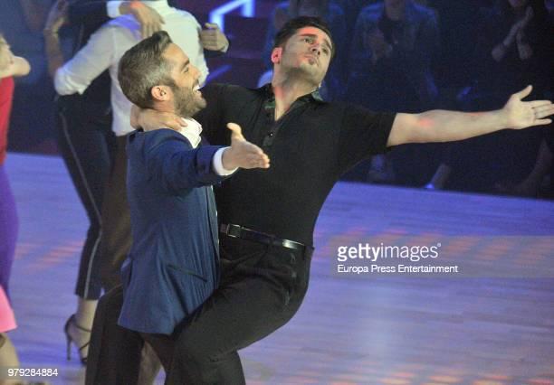 Roberto Leal and David Bustamante during 'Bailando con las estrellas' TVE programme on June 19 2018 in Barcelona Spain