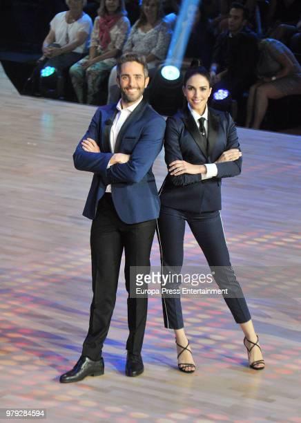 Roberto Leal and Rocio Munoz during 'Bailando con las estrellas' TVE programme on June 19 2018 in Barcelona Spain