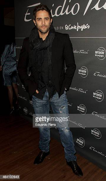 Roberto Leal attends Emidio Tucci new collection photocall at Calderon theatre on January 20 2014 in Madrid Spain