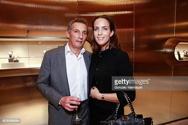 Roberto Lottini and Sandra Savini at the Angelo Bonati Celebrates SHoP Architects the Winner of the 2016 Panerai Design Miami Visionary Award on...