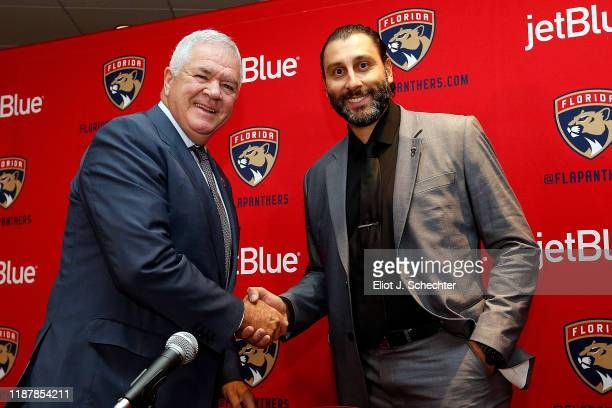 Roberto Luongo Named Special Advisor to Florida Panthers General Manager Dale Tallon prior to their game against the Winnipeg Jets at the BB&T Center...