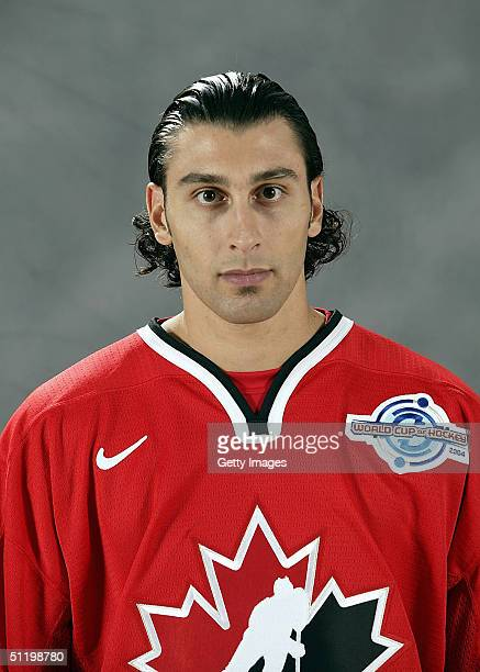 Roberto Luongo of Team Canada poses for a portrait during camp at the University of Ottawa Ottawa Ontario August 19 2004
