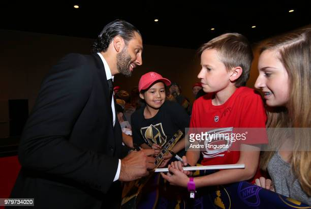 Roberto Luongo of the Florida Panthers arrive at the 2018 NHL Awards presented by Hulu at the Hard Rock Hotel Casino on June 20 2018 in Las Vegas...