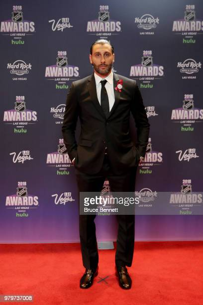 Roberto Luongo of the Florida Panthers arrives at the 2018 NHL Awards presented by Hulu at the Hard Rock Hotel Casino on June 20 2018 in Las Vegas...
