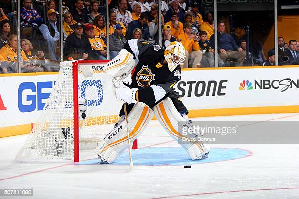 Roberto Luongo of the Florida Panthers defends the goal during the Eastern Conference Semifinal Game between the Atlantic Division and the...