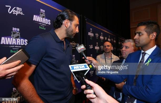 Roberto Luongo of the Florida Panthers speaks during media availability at the Hard Rock Hotel Casino on June 19 2018 in Las Vegas Nevada