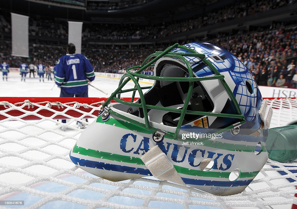 Roberto Luongo Of The Vancouver Canucks Looks On From His Crease As