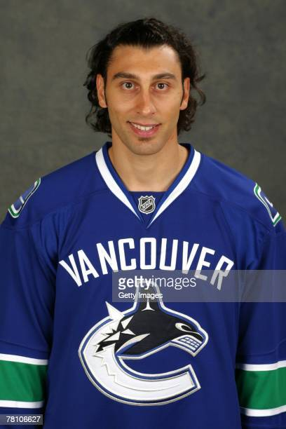Roberto Luongo of the Vancouver Canucks poses for his 2007 NHL headshot at photo day in Vancouver British Columbia Canada