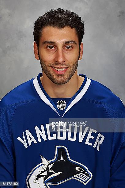 Roberto Luongo of the Vancouver Canucks poses for his official headshot for the 20082009 NHL season