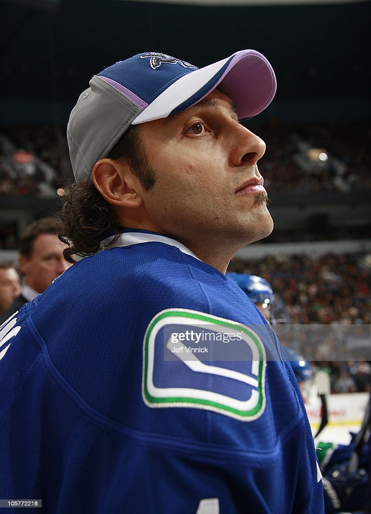 Roberto Luongo Of The Vancouver Canucks Wears A Hockey Fights