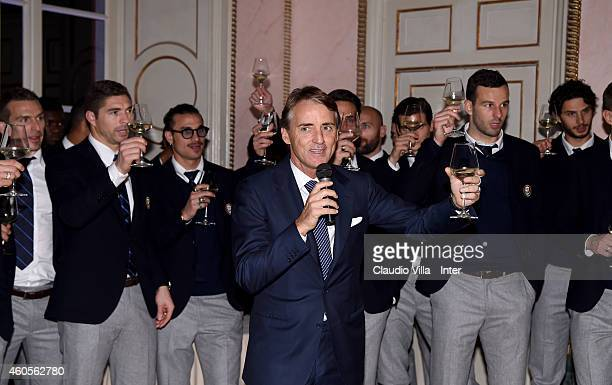 Roberto Mancini attends FC Internazionale Sponsor's Christmas Party at Villa Cicogna on December 16 2014 in Milano Italy