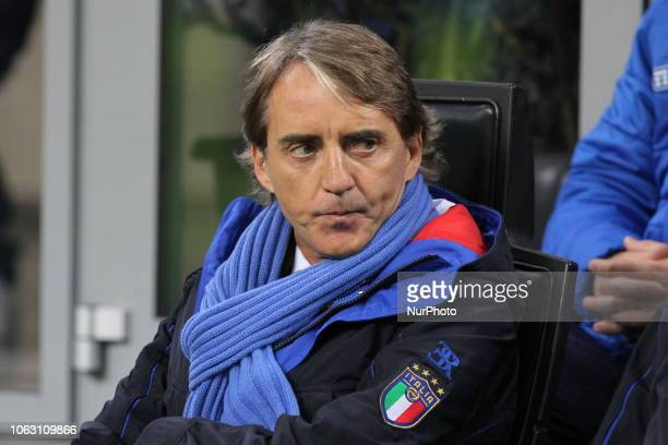 Roberto Mancini head coach of Italian National team before the Nations League football match between Italy and Portugal at Stadio Giuseppe Meazza on...