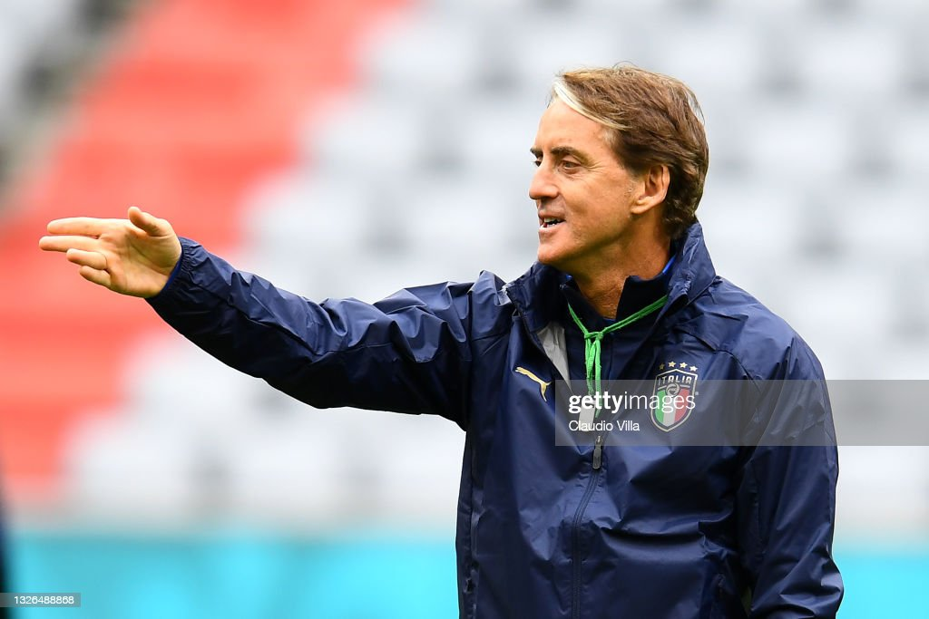 Italy Training Session and Press Conference - UEFA Euro 2020: Quarter-final : News Photo