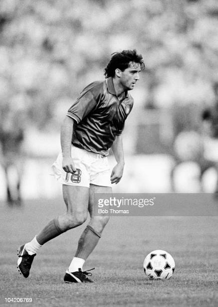 Roberto Mancini of Italy in action against Spain during a European Championship match held at the Waldstadion in Frankfurt on 14th June 1988 Italy...