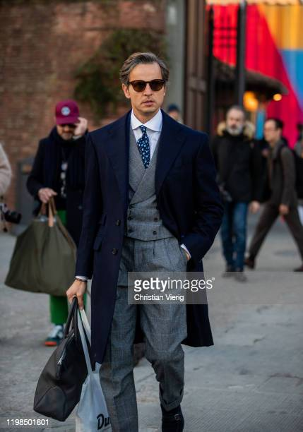 Roberto Mararo is seen during Pitti Uomo 97 at Fortezza Da Basso on January 09 2020 in Florence Italy