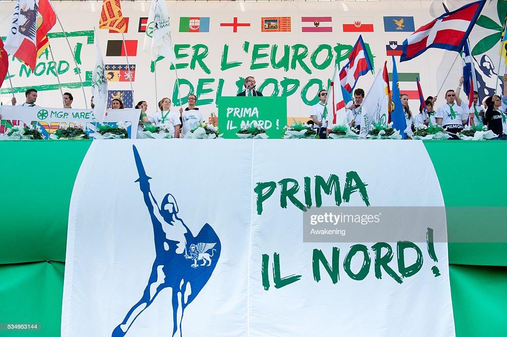 Italy - Lega Nord Rally in Venice : Nieuwsfoto's