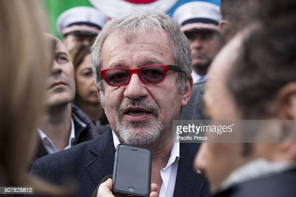 Roberto Maroni an Italian Politician during family day in