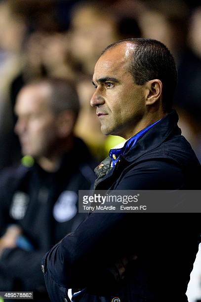 Roberto Martinez during the Capital One Cup match between Reading and Everton at Madejski Stadium on September 22, 2015 in Reading, England.