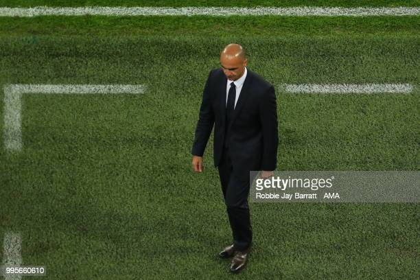 Roberto Martinez head coach / manager of Belgium during the 2018 FIFA World Cup Russia Semi Final match between Belgium and France at Saint...