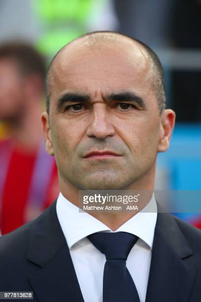 Roberto Martinez head coach / manager of Belgium looks on prior to the 2018 FIFA World Cup Russia group G match between Belgium and Panama at Fisht...