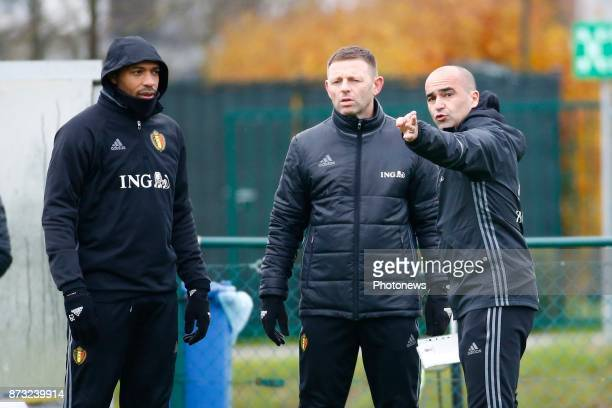 Roberto Martinez head coach of Belgian Team and Thierry Henry ass coach of Belgian Team picture during the press conference and training session of...