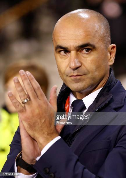 Roberto Martinez head coach of Belgian Team during a FIFA international friendly match between Belgium and Mexico at the King Baudouin Stadium on...