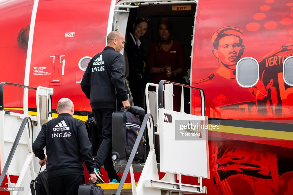 Roberto Martinez head coach of Belgian Team during the departure of the National Football Team of Belgium to the FIFA 2018 World Cup Football in Russia at Zaventem Airport on June 13, 2018 in Brussels, Belgium,