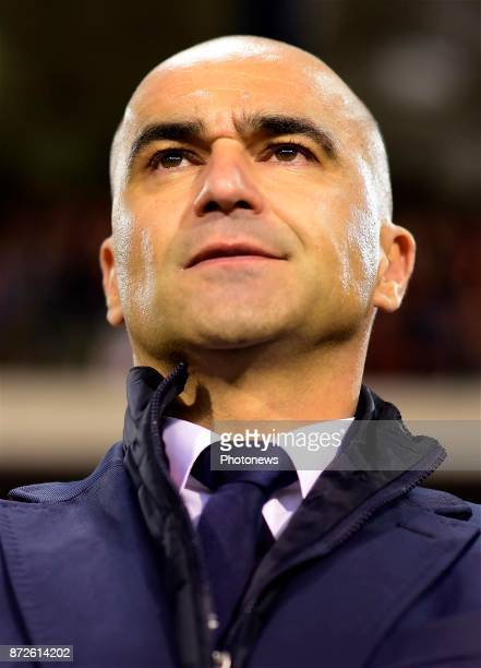 Roberto Martinez head coach of Belgian Team looks on from the touchline during a FIFA international friendly match between Belgium and Mexico at the...