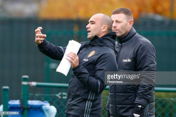 Roberto Martinez head coach of Belgian Team picture during the press conference and training session of the Red Devils at the national training...