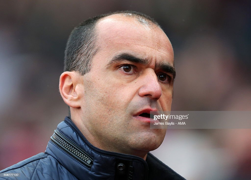 Roberto Martinez manager of Everton during the Barclays Premier League match between Stoke City and Everton at the Britannia Stadium on February 06, 2016 in Stoke-on-Trent, England.