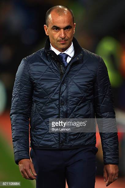 Roberto Martinez manager of Everton prior to the Barclays Premier League match between Crystal Palace and Everton at Selhurst Park on April 13 2016...