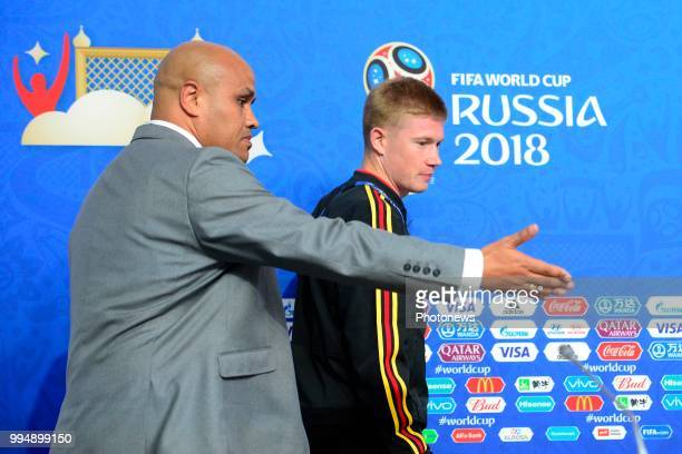 Roberto Martinez manager of the Belgium national football team talking to the press during a press conference of the National Soccer Team of Belgium...