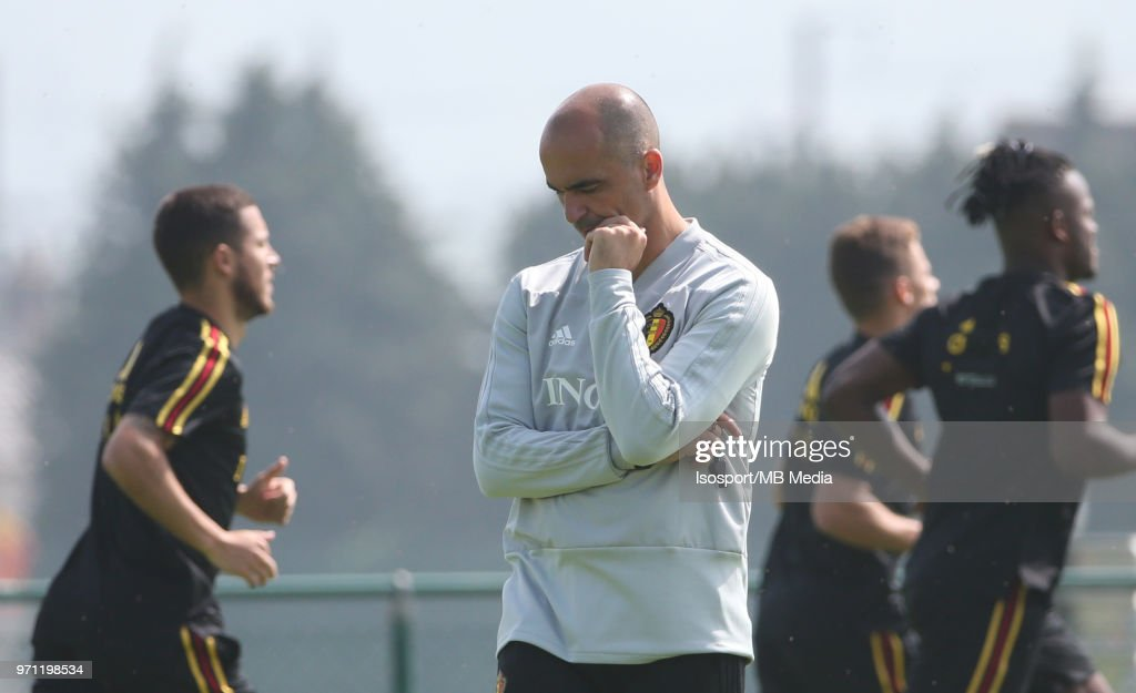Roberto MARTINEZ pictured during a training session of the Belgian national soccer team ' Red Devils ' at the Belgian National Football Center, as part of preparations for the 2018 FIFA World Cup in Russia, on June 4, 2018 in Tubize, Belgium. Photo by Vincent Van Doornick - Isosport