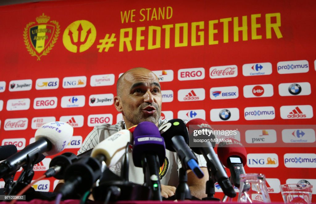Roberto MARTINEZ talks to the press before a training session of the Belgian national soccer team ' Red Devils ' at the Belgian National Football Center, as part of preparations for the 2018 FIFA World Cup in Russia, on June 1, 2018 in Tubize, Belgium. Photo by Vincent Van Doornick - Isosport