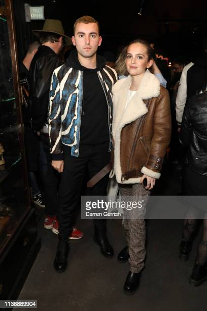 Roberto Mavrogalos and Esme Chapman attend The Great Frog Store launch event on March 19 2019 in London England