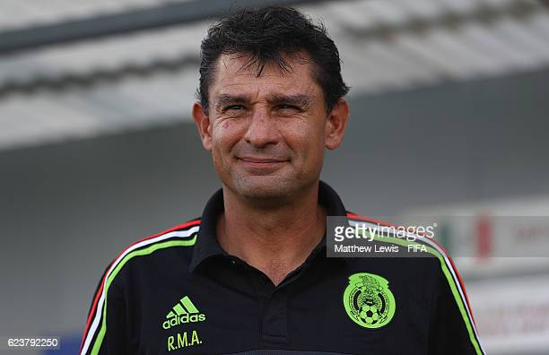 Roberto Medina Cocah of Mexico looks on during the FIFA U20 Women's World Cup Papua New Guinea 2016 Group D match between Germany and Mexico at...