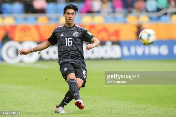 Roberto Meraz from Mexico seen in action during the FIFA U20 World Cup match between Mexico and Japan in Gdynia