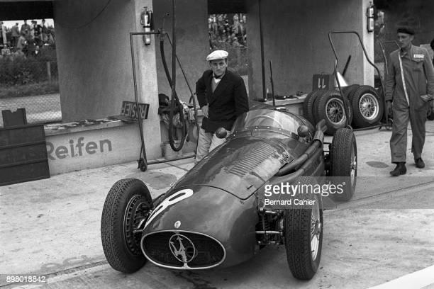 Roberto Mieres Maserati A6GCM OR Maserati 250F Grand Prix of Germany Nurburgring 01 August 1954