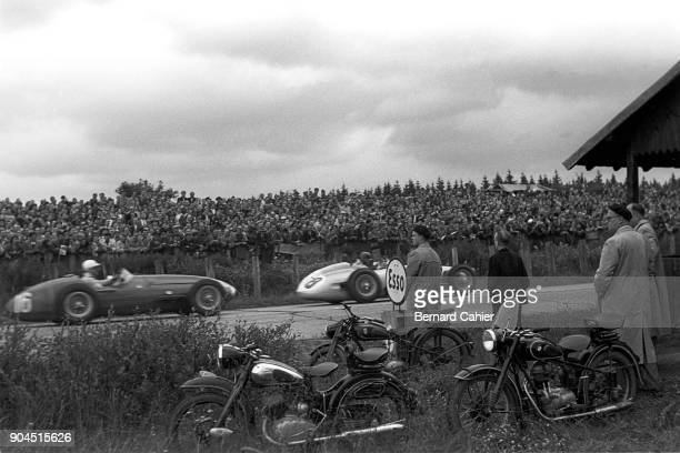 Roberto Mieres Stirling Moss Maserati 250W Mercedes W196 Grand Prix of Germany Nurburgring 01 August 1954