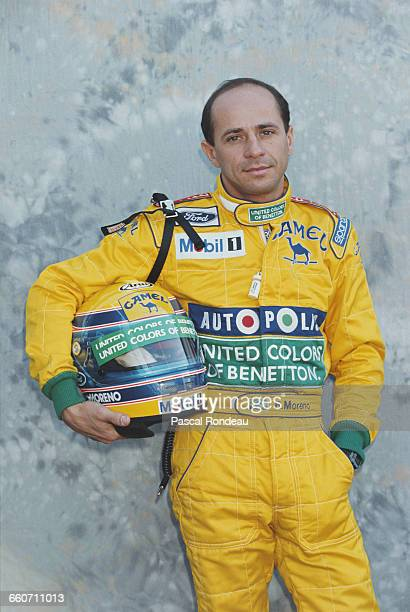 Roberto Moreno of Brazil driver of the Camel Benetton Ford Benetton B191 Ford HB V8 poses for a portrait during pre season testing on 1 February 1991...