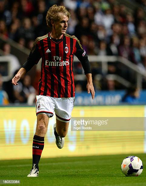 Roberto Mussi of AC Milan Glorie during Steve Harper's testimonial match between Newcastle United and AC Milan Glorie at St James' Park on September...