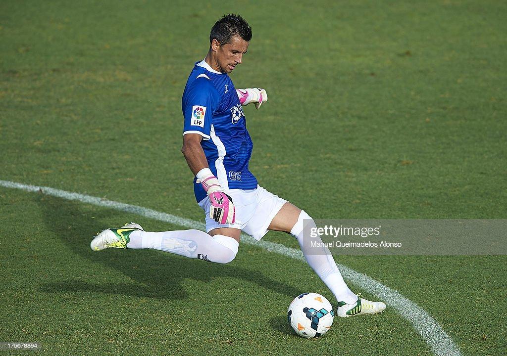 Roberto of Granada in action during a friendly match between Villarreal CF and Granada FC at La Manga Club on August 03, 2013 in La Manga, Spain.
